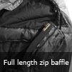 Full Length Zip Baffle