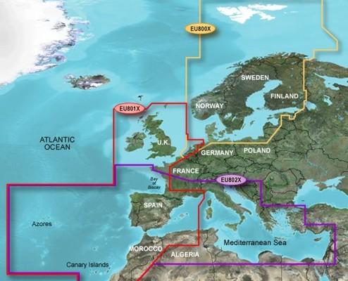 Garmin BlueChart XLarge-Regionen - Bild: Garmin