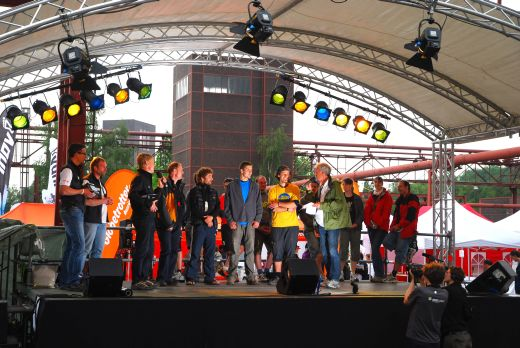 Garmin GPS-Festival auf Zollverein: Siegerehrung der Satellite Challenge - Bild: Garmin