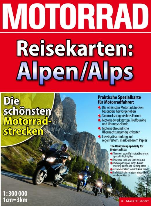 Motorrad Reisekarten Alpen - Bild: Mair Dumont