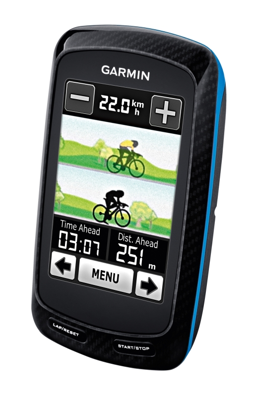 Virtual Partner auf dem Garmin Edge800 - Bild: Garmin