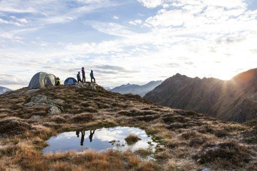 alpines Campen - unvergessliche Stunden unter freiem Berghimmel - Fotocredit: Daniel Zangerl - Foto: Silvretta Montafon