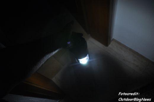 Lichtkegel beim Tragen am Henkel