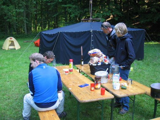 Camping, wie hier bei einem Forumstreffen, ist auch bei den Poker-Stars immer beliebter