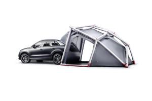 Audi Q3 mit HEIMPLANET CABINS Campingzelt - Fotocredit: AUDI & HEIMPLANET