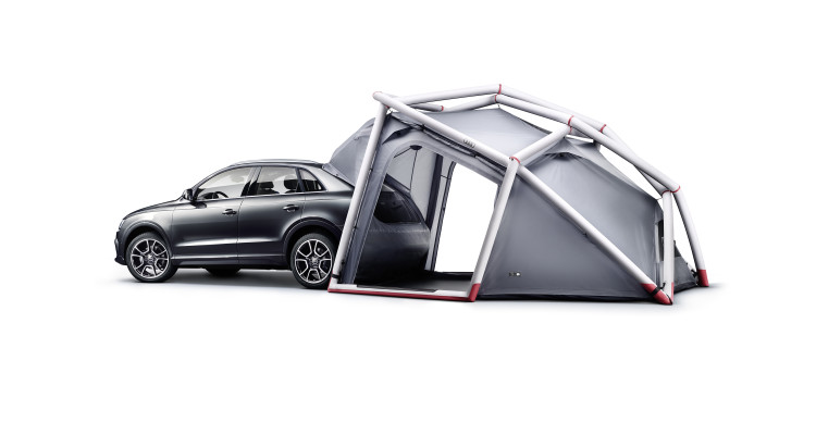 Audi Q3 mit HEIMPLANET CABINS Campingzelt - Fotocredit: AUDI & HEIMPLANET