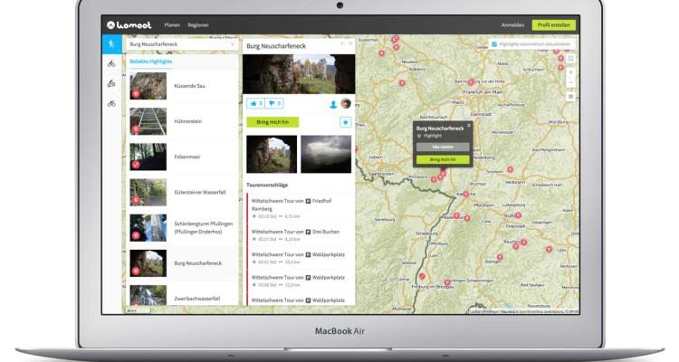 Screenshot komoot - Outdoor App komoot - Fotocredit: komoot